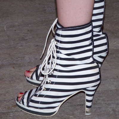 Striped-boots